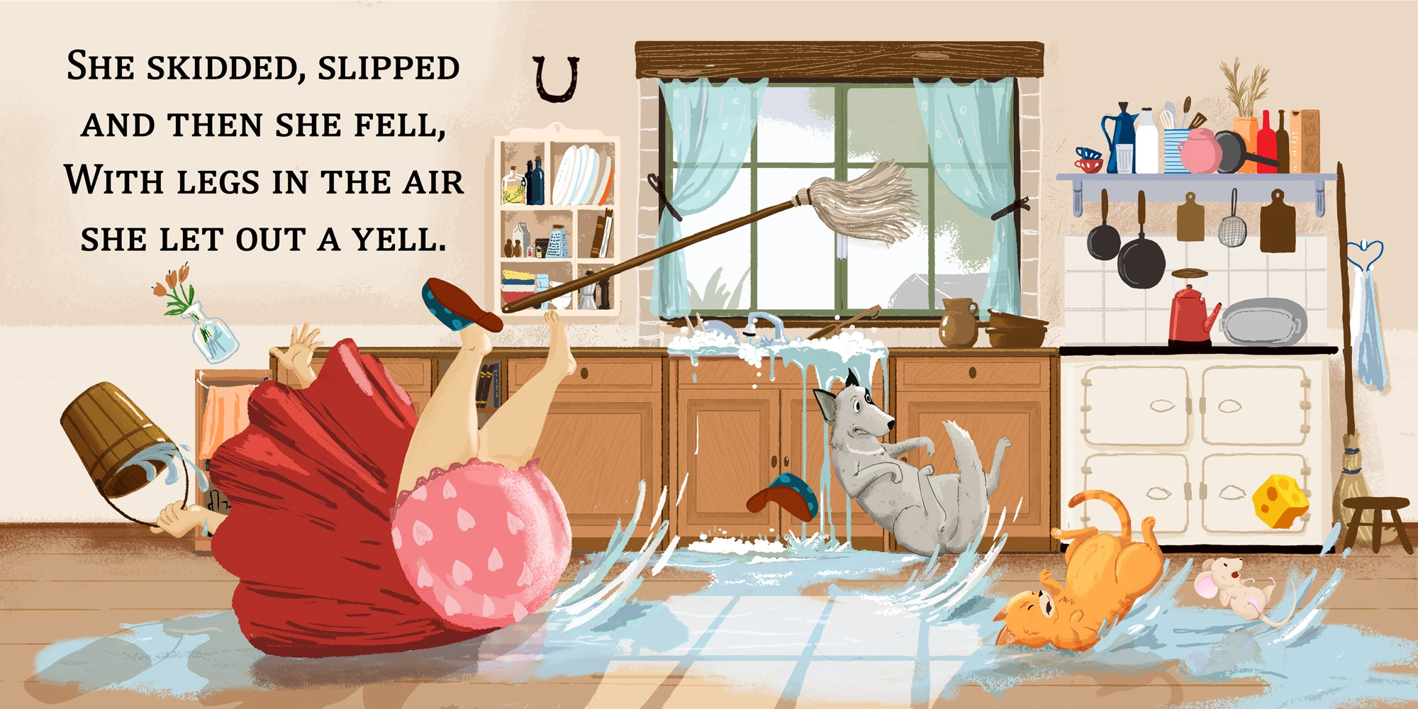 Children's book Illustration - The Cheese, Me, and the Cat- Follow-Up work with winning designer!