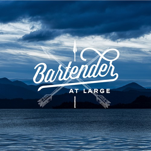 Logo for a bartender that travels
