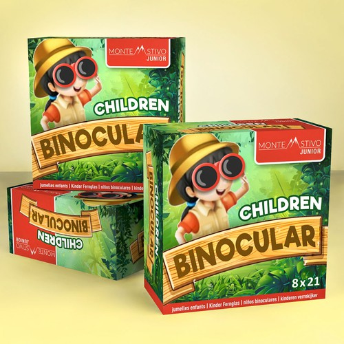 Playful package design concept for children binocular