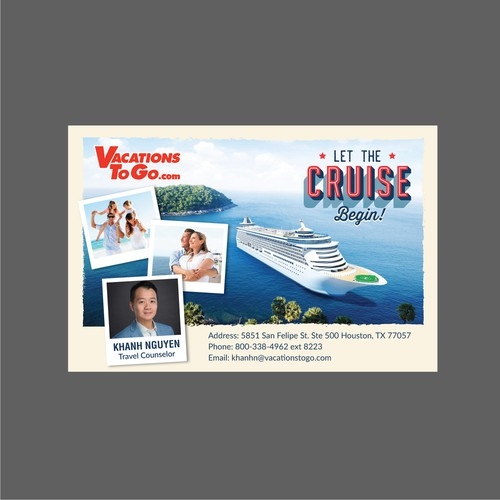 Cruise/Travel Business card design