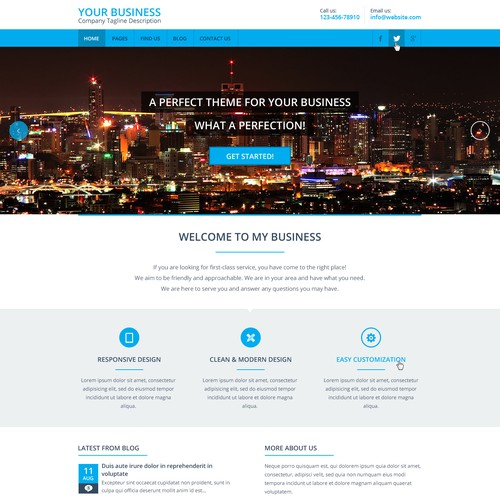 website design for Expand2Web - SmallBiz WordPress theme