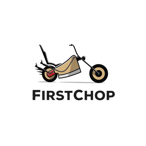 Conceptual logo for chopped meat delivery