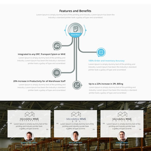 Responsive website for a software company