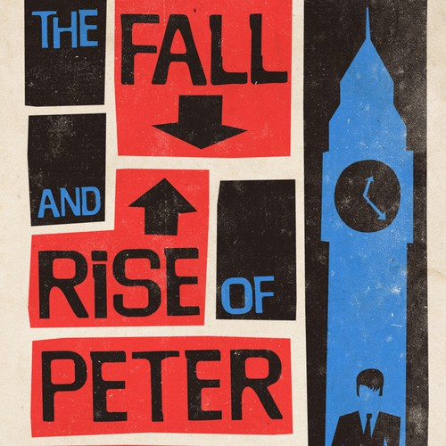 "Book Cover design for ""The Fall and Rise of Peter Stoller"""