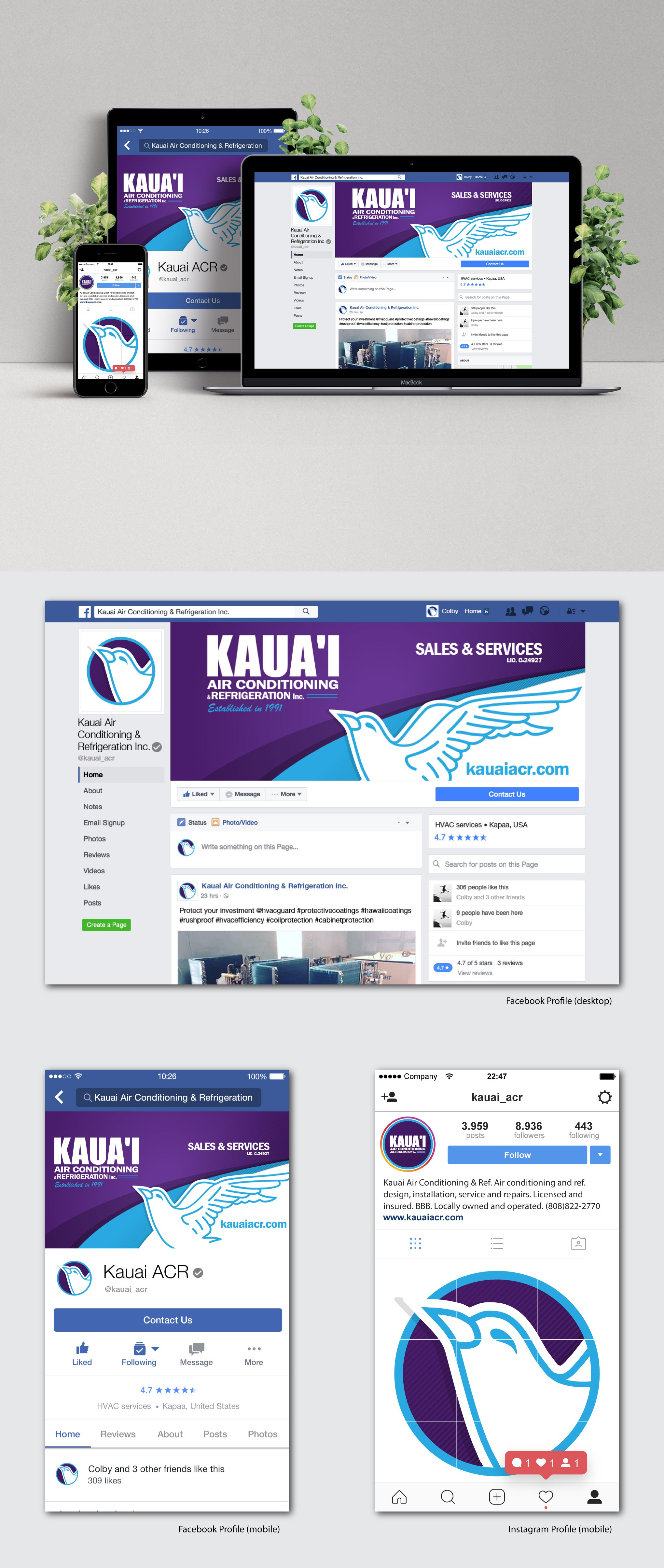 Facebook and Instagram Cover Page