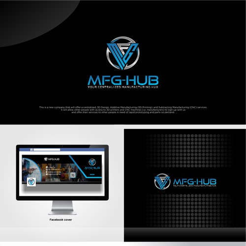 Logo design for new technology and manufacturing website.