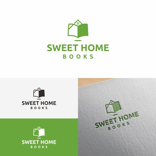 Bold logo concept for SWEET HOME books