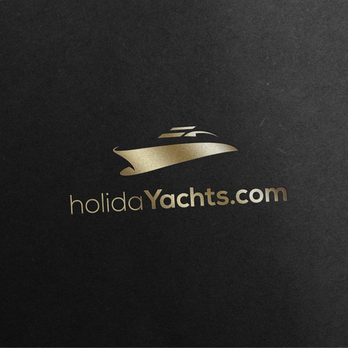 Elegant and beautiful yacht logo