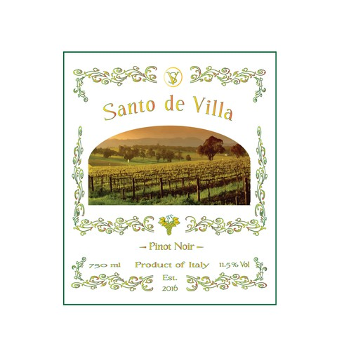 Logo concept for wine company