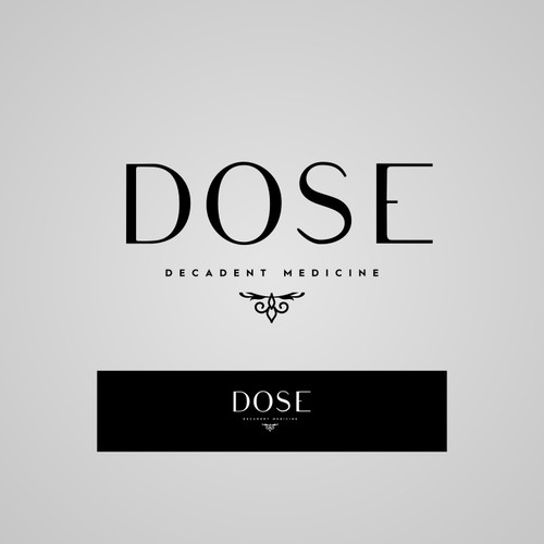 Modern luxury logo and package design for medicinal chocolate brand: DoSe