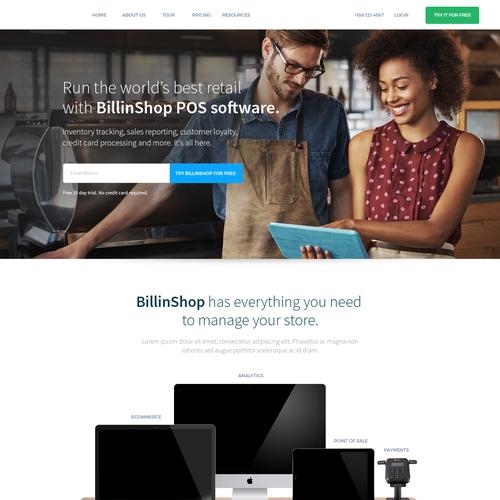 Billinshop Landing Page Design