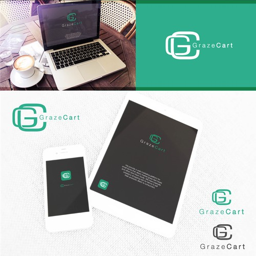 graze cart logo design