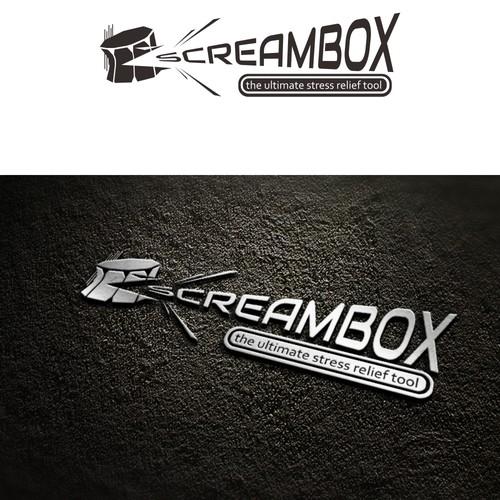 Create a simple clean logo for Screambox