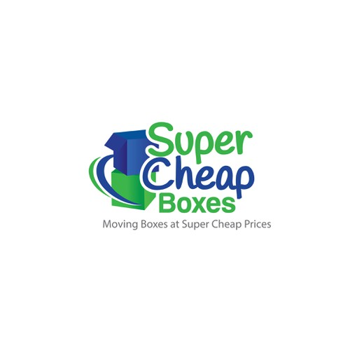 Create a WOW logo for Super Cheap Boxes!