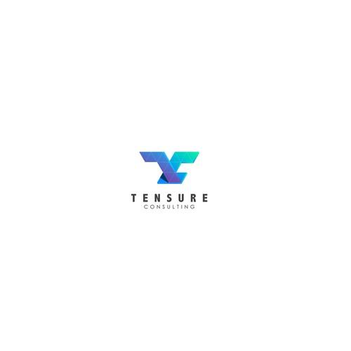 Modern elegant logo concept for Tensure Consulting
