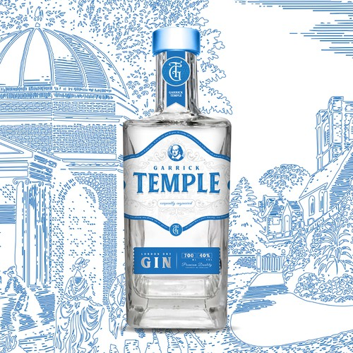 Garrick Temple Gin Label