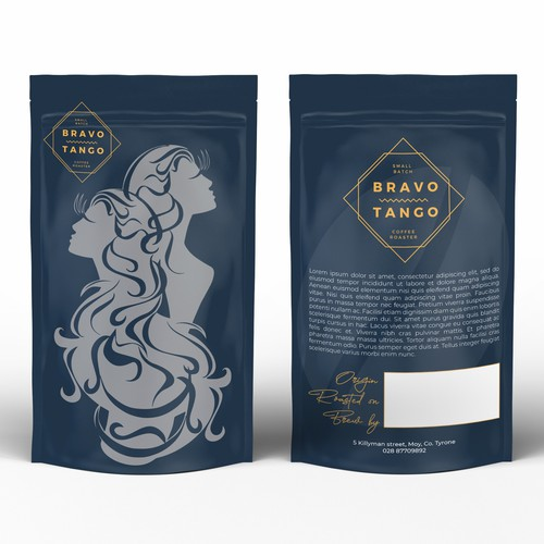 Coffee Packaging Design (stand-up pouches)