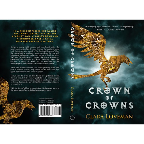 "Redesign of ""Crown of Crowns"" Book Cover"