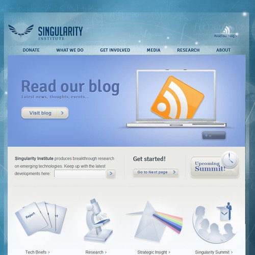 Singularity Institute - ONLY NEED SLICK LOOKING BACKGROUND IMAGE