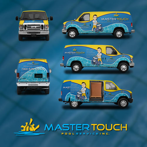 Car wrap for pool service company