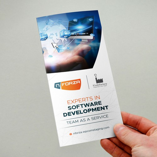 Create a tech company service brochure