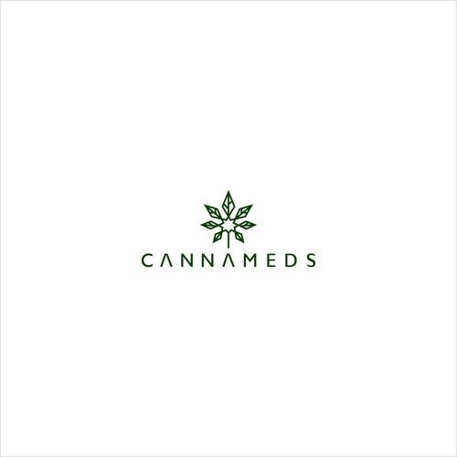 Pot leaf logo concept