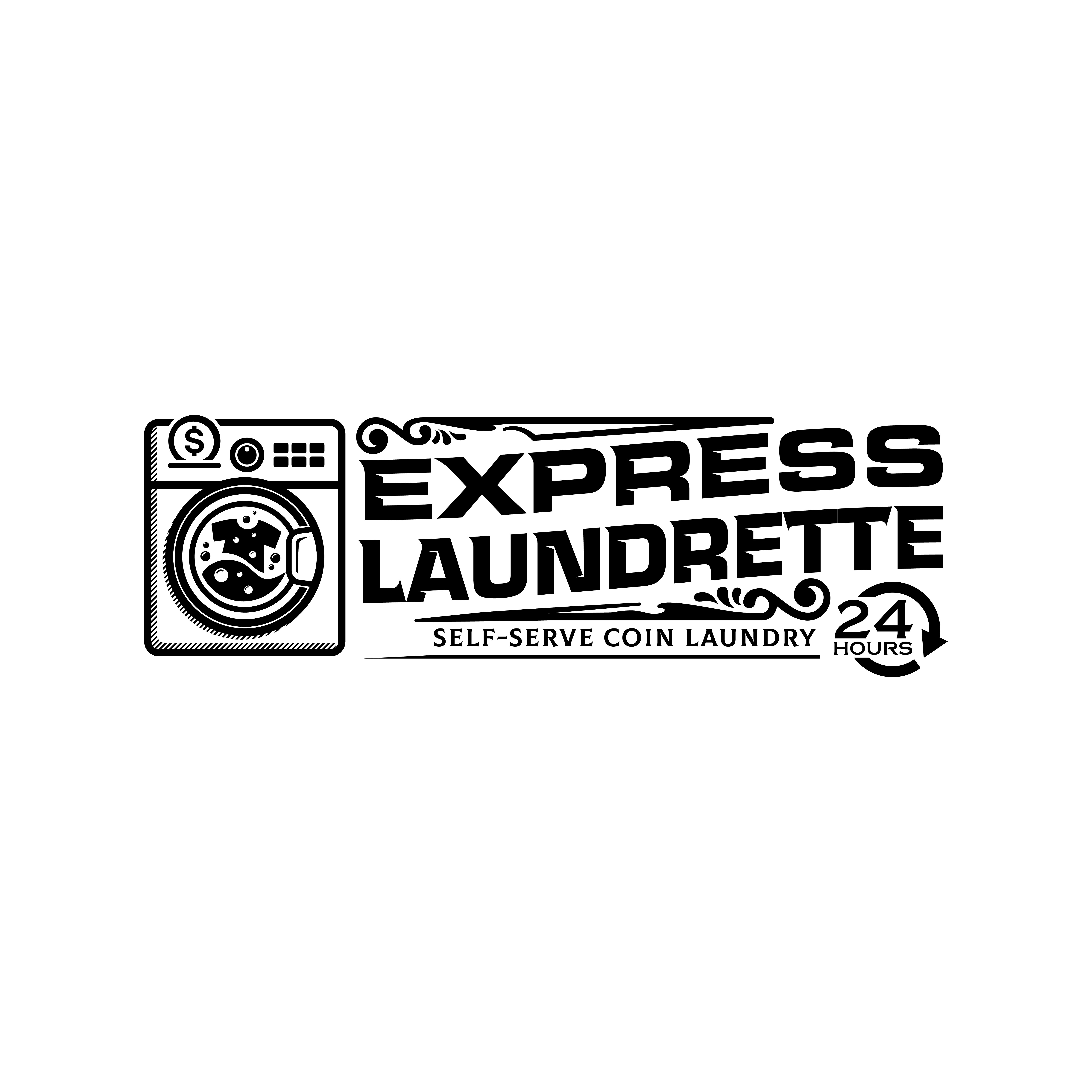 Coin laundry with crisp and sophisticated iconography to brand around