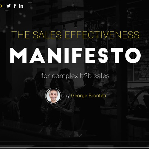 The Sales Effectiveness Manifesto Redesign