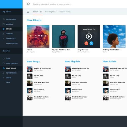 Music app - Work in progress