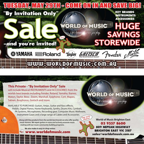 Create the next postcard or flyer for World of Music