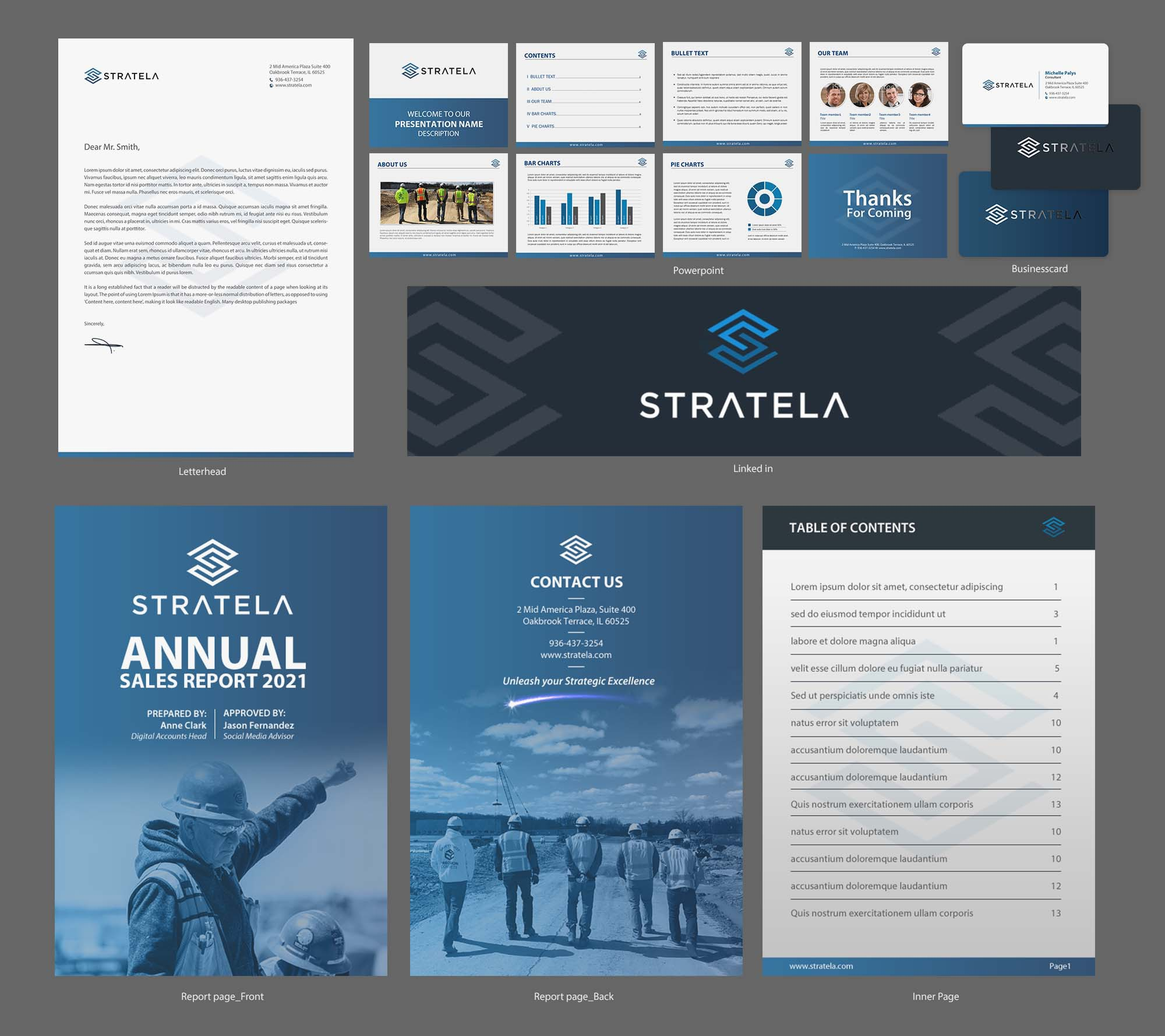Need Striking Stationery and PowerPoint Template for a Consulting Company