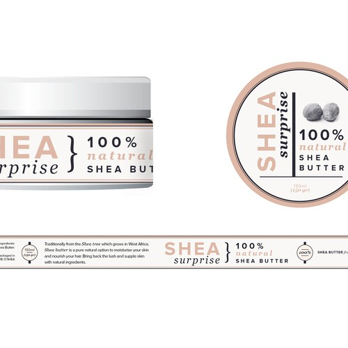 Shea Body Butter needs a new product label