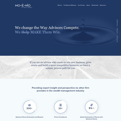 Landing Page for Consulting Company
