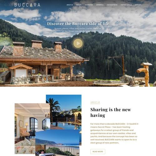Presentation website for luxury travel agent