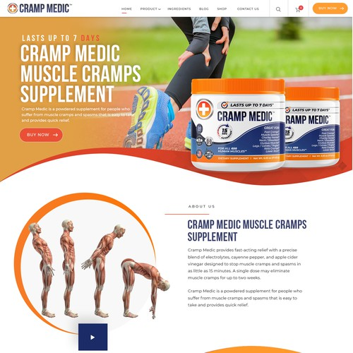 Professional website design needed for new supplement