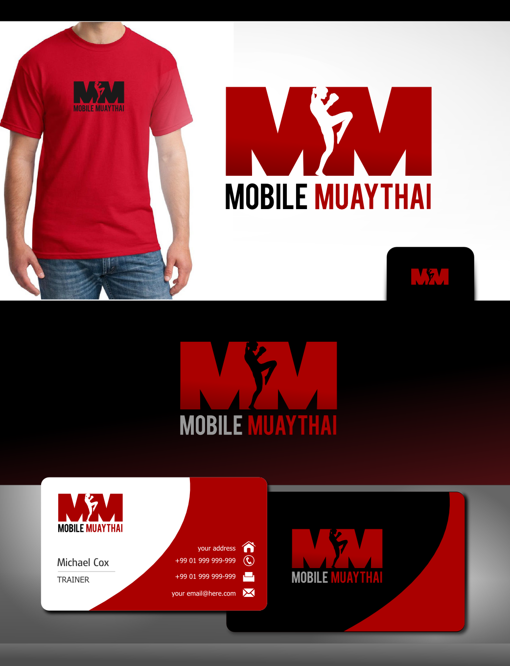"""Create a modern/eye catching logo for """"Mobile Muay Thai"""" kickboxing and bootcamps"""