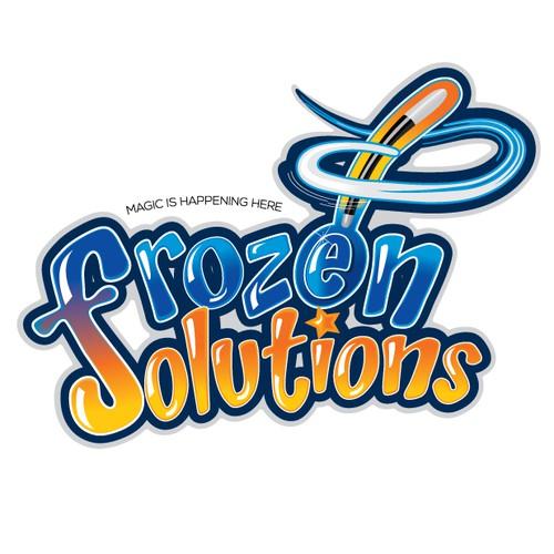 Create a logo for ice cream supply company