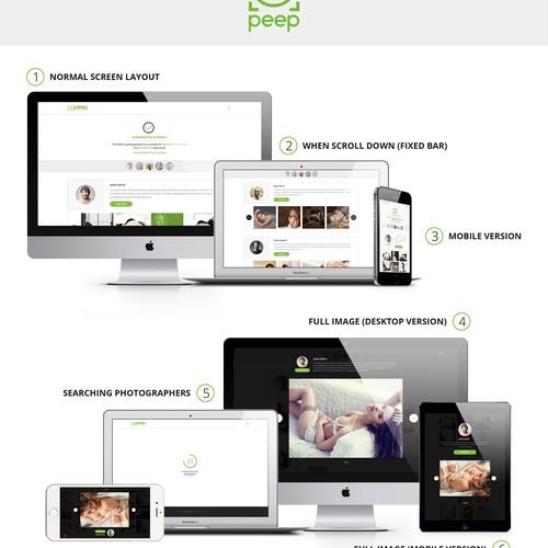 Peep - Photgraphy Web Design