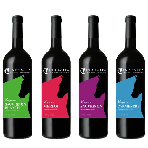 ¡Crea una etiqueta para la línea Reserva de Viña Indómita!