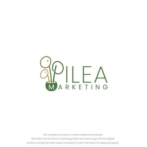 Pilea logo design concept