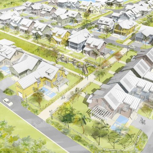 Neighborhood illustration