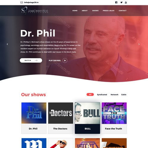 WEB PAGE DESIGN FOR ENTERTAINMENT INDUSTRY
