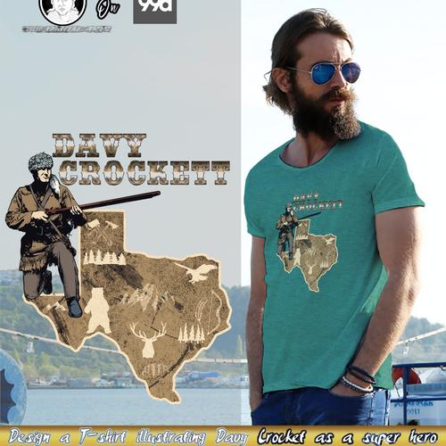 Davy Crocket T-Shirt Design- Final Round