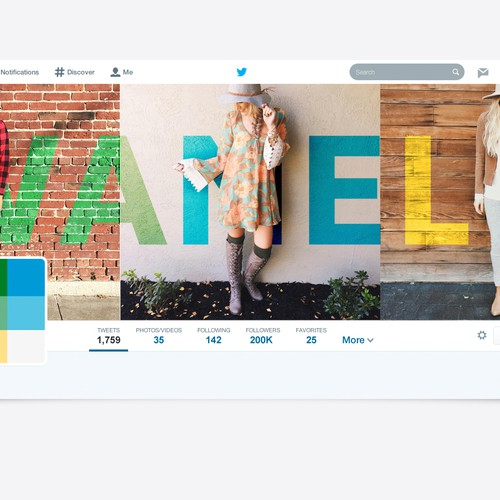 Twitter Cover for Wanelo