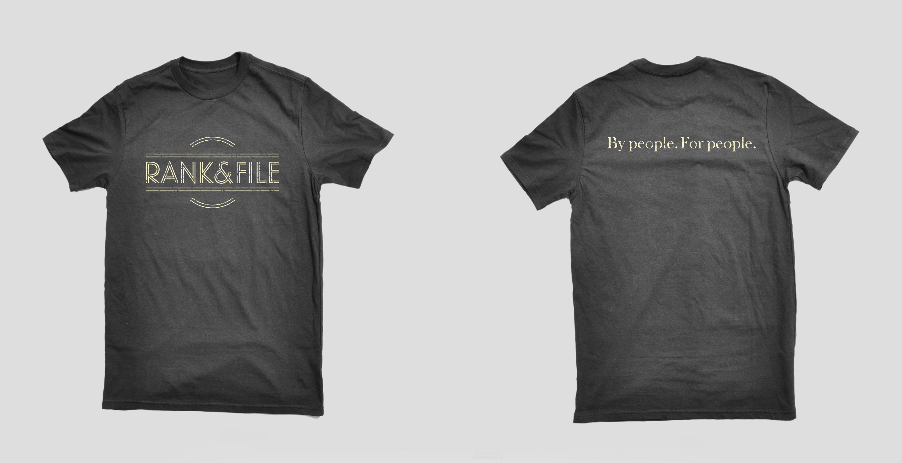 Rank & File t-shirt design for crowdfunding campaign