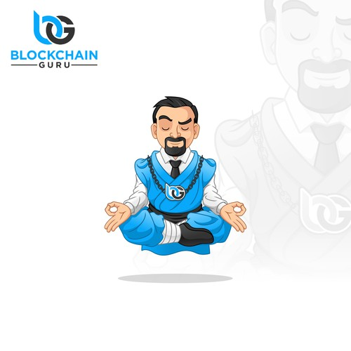Mascot Design  for BLOCKCHAIN GURU