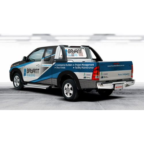 Truck wrap concept for Builder