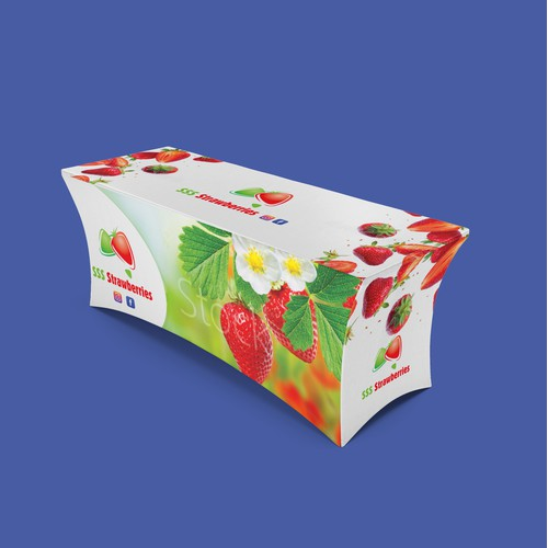 Strawberry Stall Table Cover