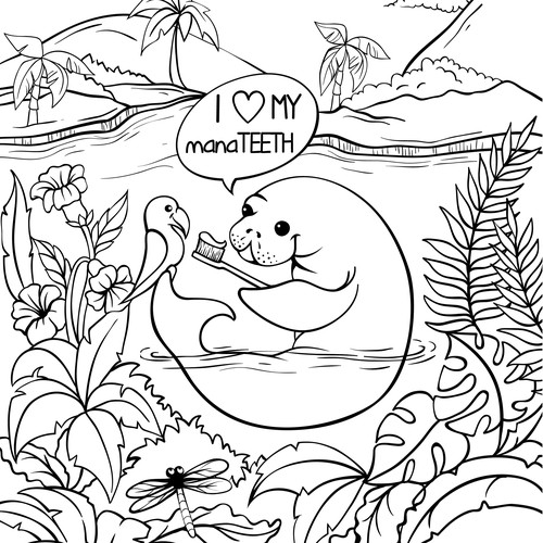 Page of coloring book