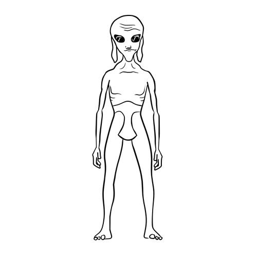 Alien character design for a movie